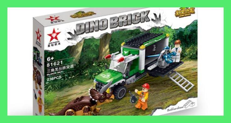 Hot Nuevo 236 Unids Mundo Parque Jurasico Dinosaurio Triceratops Jungle Hunt Building Blocks Juguetes Regalos