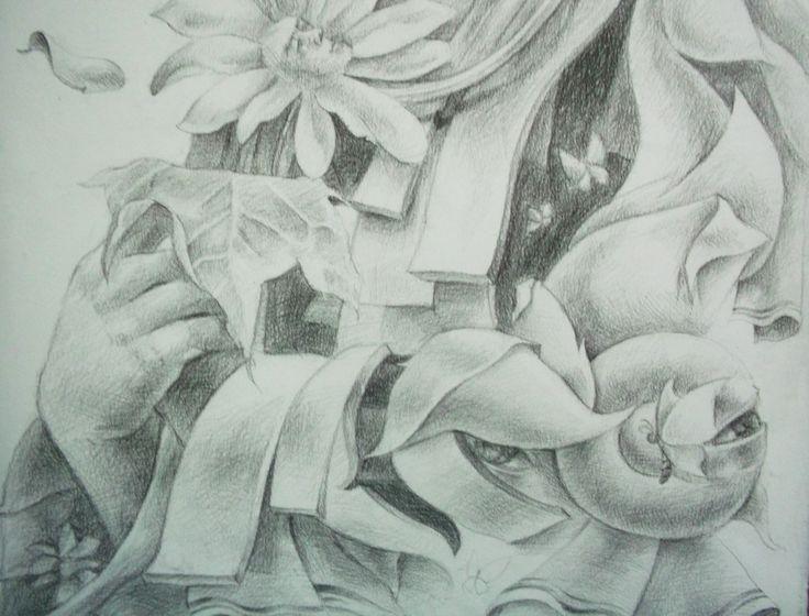 Art Drawing Pencil on Paper by Sittichai Pijitam (cycnas)