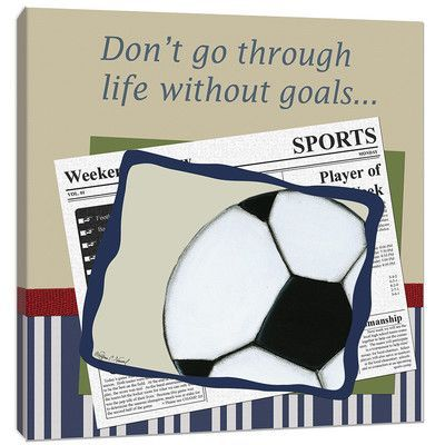 Doodlefish Sports Soccer in the News Canvas Art