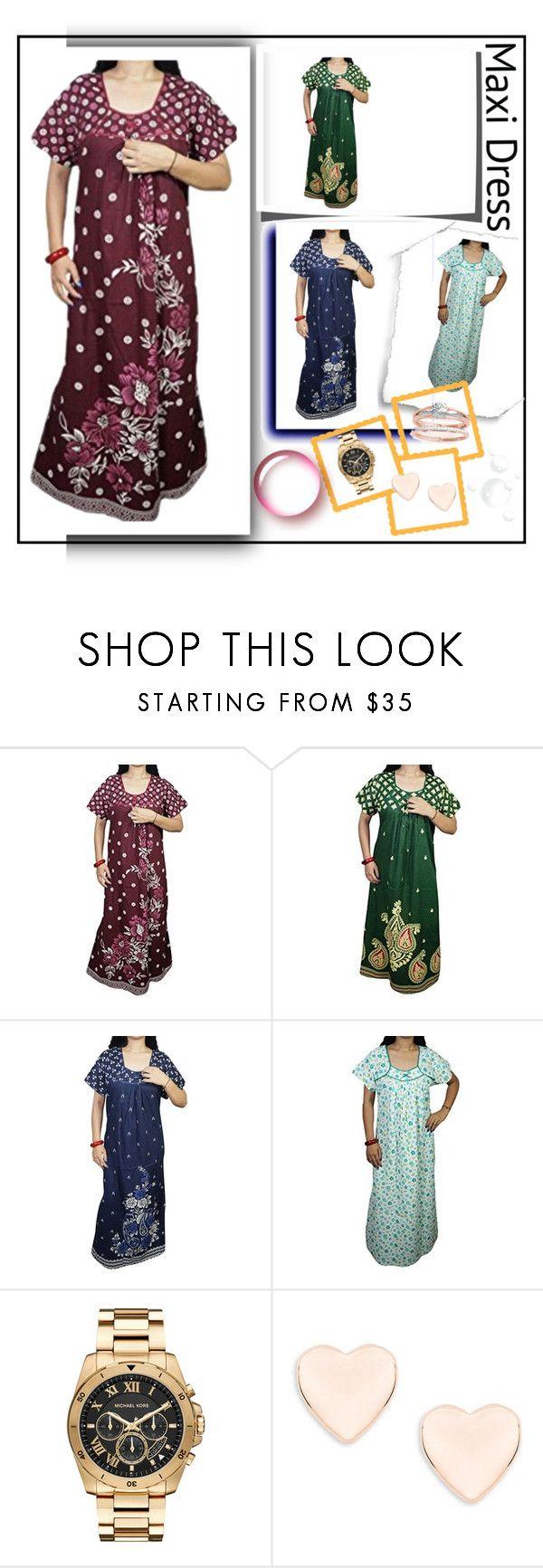 WOMEN'S COTTON NIGHTWEAR MAXI DRESS by lavanyas-trendzs on Polyvore featuring Michael Kors and Ted Baker  #nighty #maxi #nightgown #fancy #sleepwear #nightwear #summercollection #womennighty #sale #online #cotton