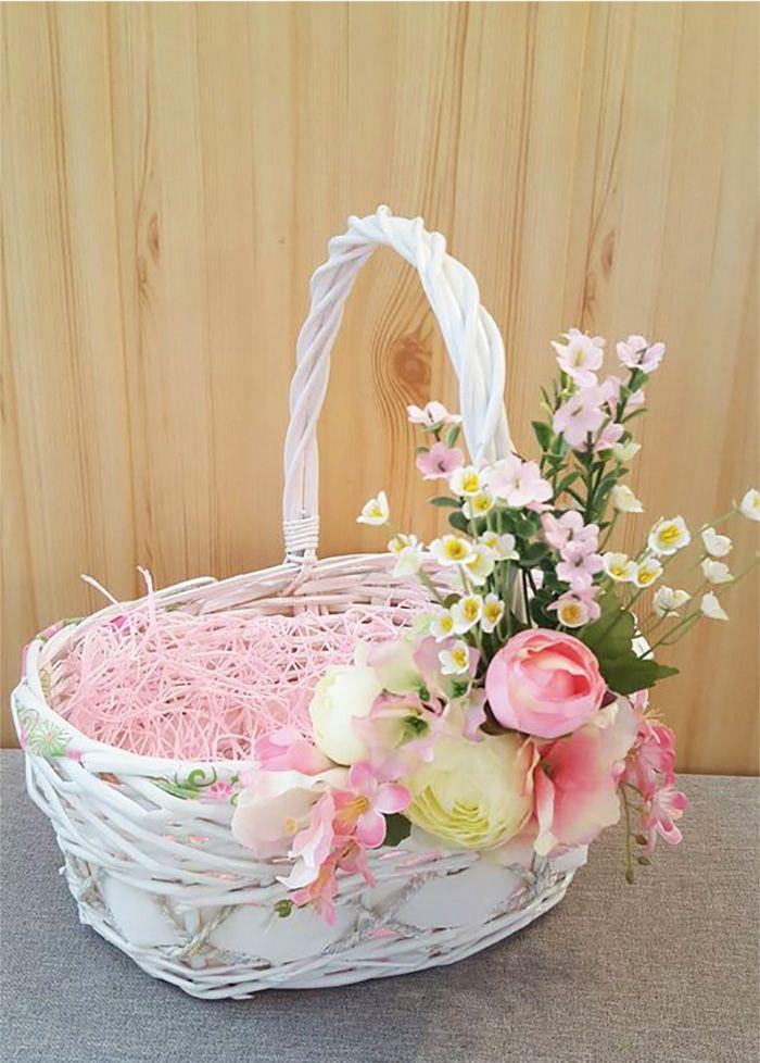 цветочная пасхальная корзина