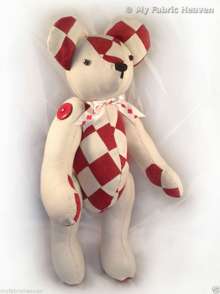 """Harley Patchwork 14"""" Teddy Bear Sewing PATTERN & Easy To ..."""