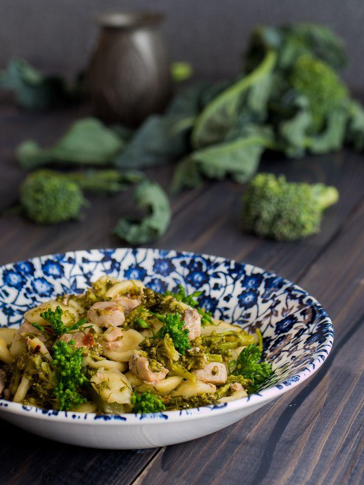 Orecchiette broccoletti (o cime di rapa) e pesce spada