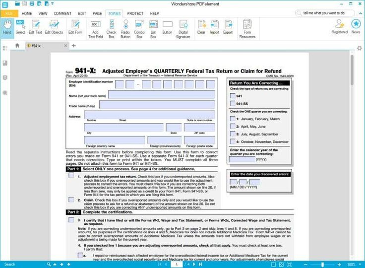 28 Irs form 941 Fillable in 2020 Irs forms, Irs, Cover