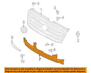 a toyota oem 98 02 land cruiser grille grill filler panel 5390360040
