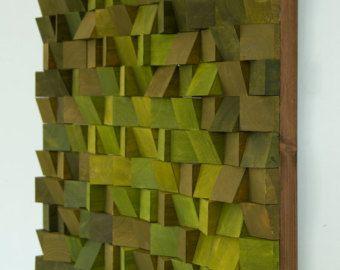 Legno recuperato arte della parete mosaico in di ArtGlamourSligo