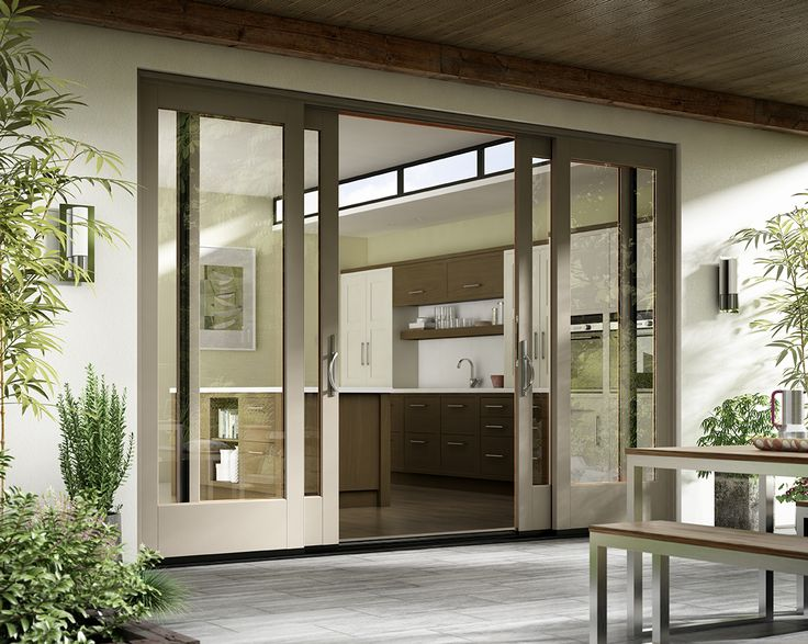 Beautiful design, smooth operation. Featured: Essence Series® French Sliding Door.