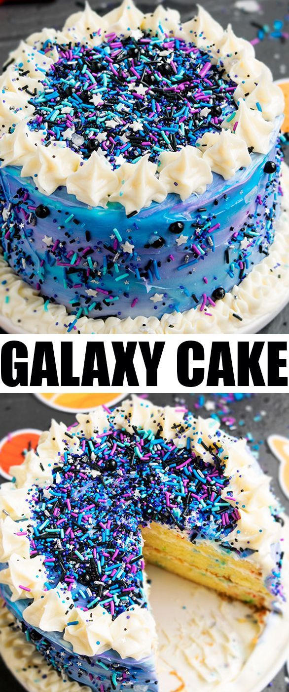 Quick Easy Cake Decoration : Best 25+ Galaxy cupcakes ideas that you will like on Pinterest