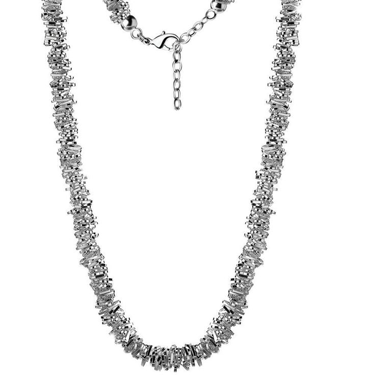 Newbridge Silverware Beaded Heart Necklace. A romantic statement in jewellery! Heart shaped links clustered together is what is truly romantic about this necklace. It represents true affection and tenderness. Tactile and elegant, this is designed to be worn as a symbol of love and goes beautifully with the matching bracelet. £46.95