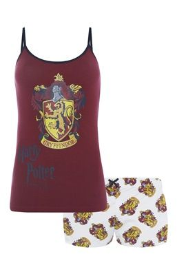 Harry Potter Griffindor Cami Set - Just took the Pottermore test again after 2 years & it looks like I'm Gryffindor now instead of Slytherin! :P