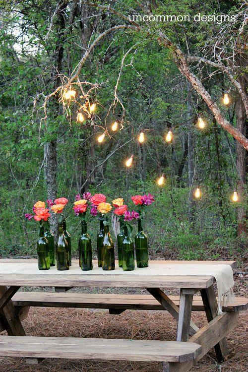 17 best ideas about backyard decorations on pinterest for Cheap backyard lighting ideas