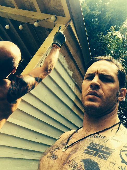 Tom Hardy shirtless tattoos muscles sexy hot gorgeous Speechless ❤❤❤❤