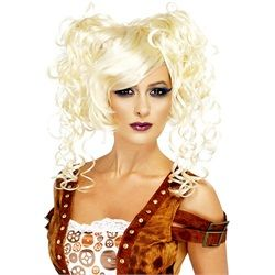 Wholesale Halloween Costumes - Women's Steam Punk Pigtail Adult Wig