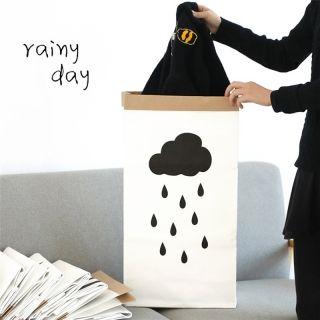 Kids Kraft Paper Cute Animal Pattern Cartoon Storage Paperbag 8# Cloud Rain