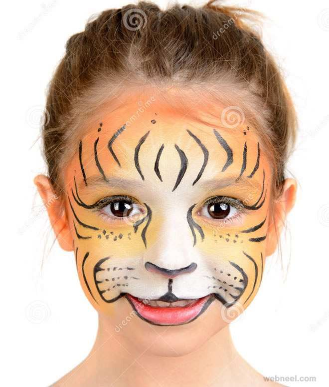 Child Face Painting Elegant 40 Beautiful Face Painting Ideas From Top Artists Around Tiger Face Paints Face Painting Easy Lion Face Paint