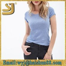 Favorite Soft Knit women summer t shirts from china best buy follow this link http://shopingayo.space