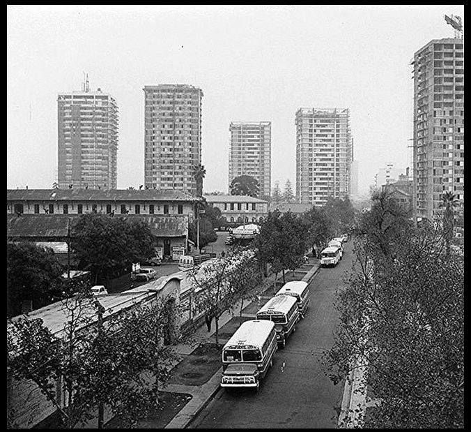 Calle Portugal, Torres San Borja en el año 1971.