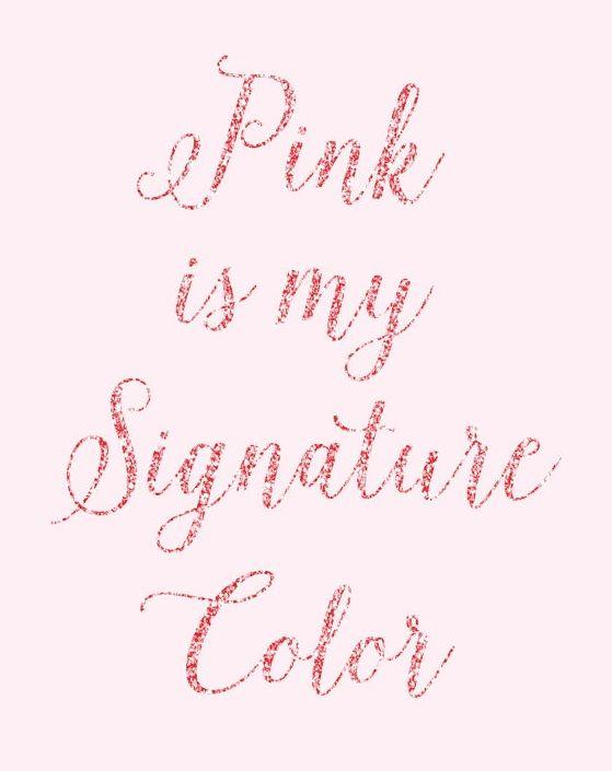 Pink is always a good idea.