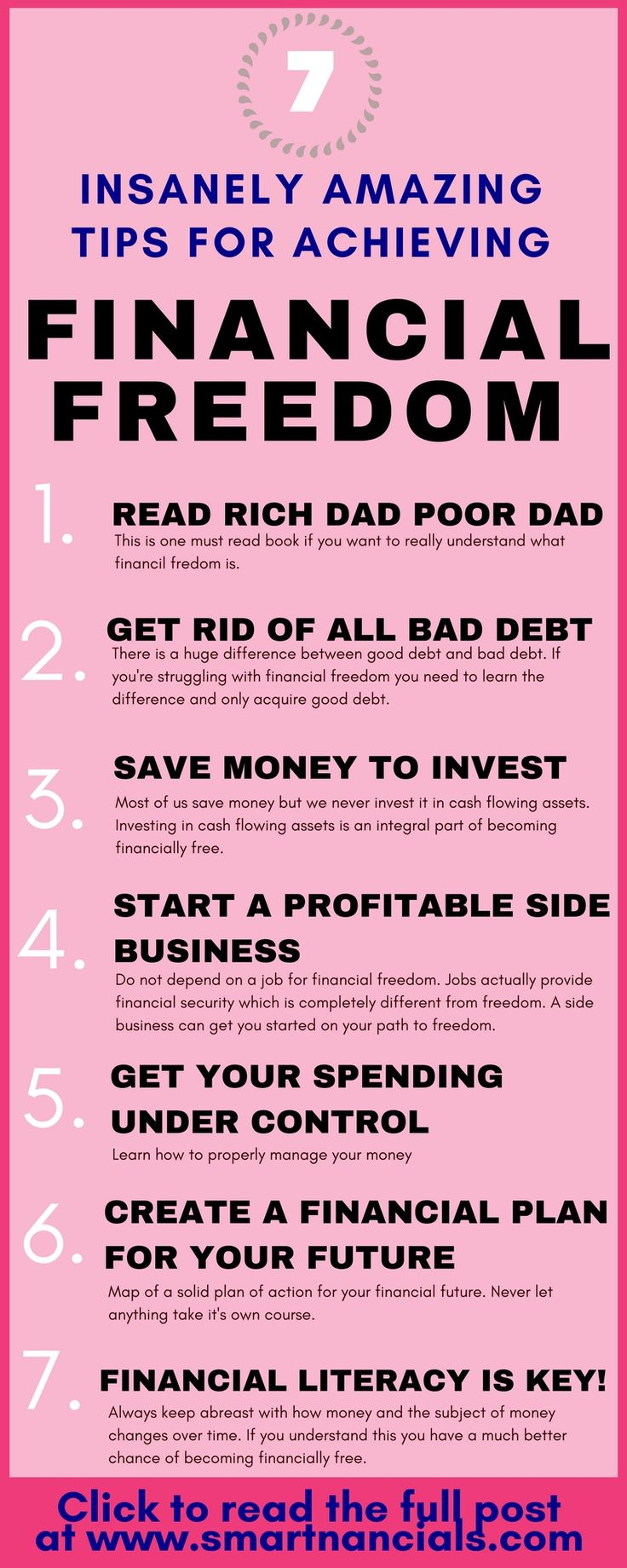 These insanely amazing tips to achieve financial freedom are seriously the best! I'm so happyI found these great tips and tricks! Now I know some awesome steps to take to become financially free! Definitely pinning!