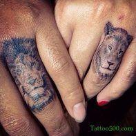 Lion tattoo for couples