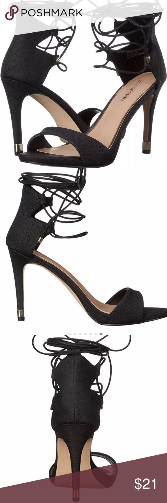 Call It Spring Women's ATNARKO dress Sandal Ladies high heel ghillie sandal. New with box Shoes Sandals