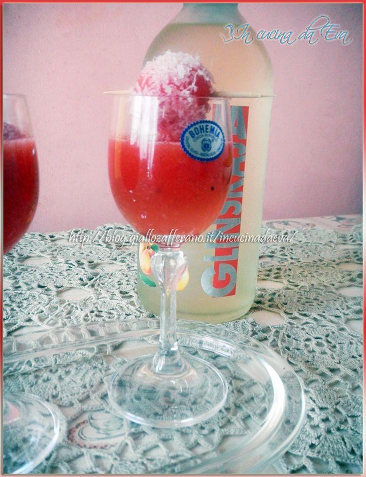 Cocktail anguria fredda, vodka alla pesca