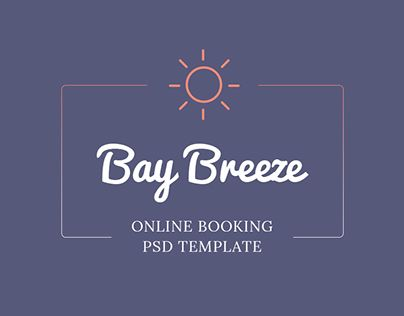 """Check out new work on my @Behance portfolio: """"Bay Breeze - Online Booking PSD Template"""" http://on.be.net/1yvmoVb"""