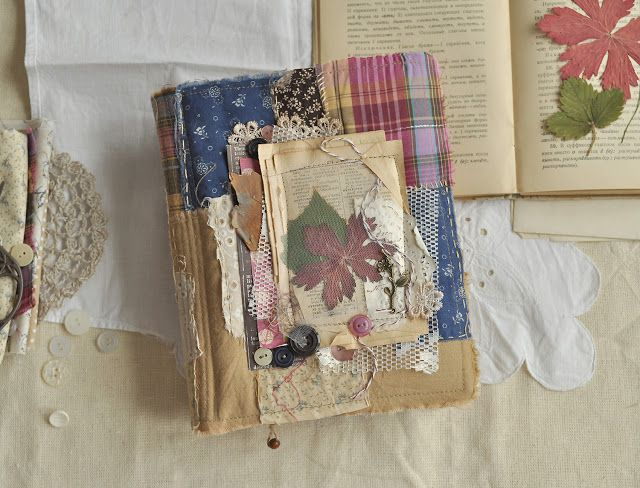 """Handmade by MariaZh: Лоскутный блокнотик """"Загородная жизнь"""""""