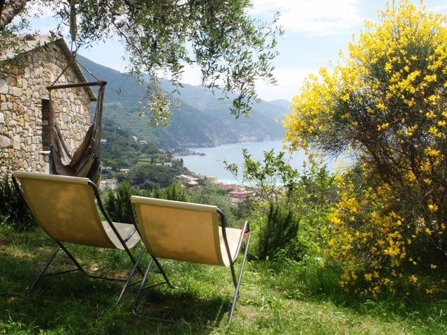 relaxing in the garden. One of our accommodation  in Cinque Terre #beautifuliguria