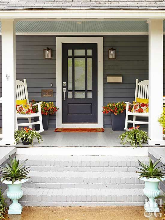Create High End Curb Appeal For Less House With Porch