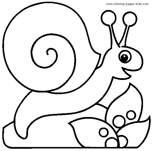 Snail Coloring Page Spring Earth Day