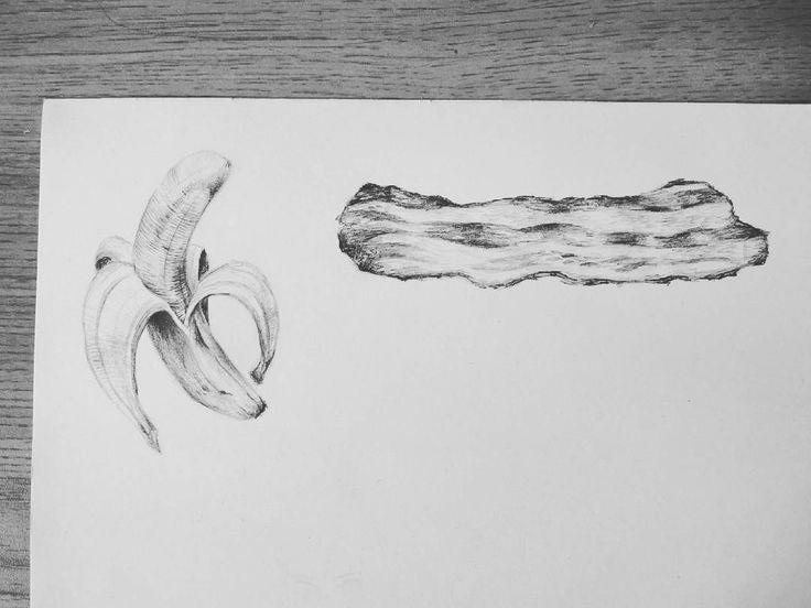 Banana and bacon. Maria Velat.