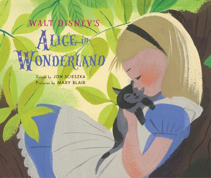 Alice in wonderland book mary blair illustration