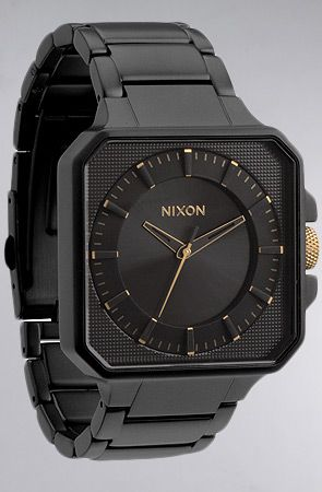 The Platform Watch in Matte Black and Gold by Nixon (Jeucey)