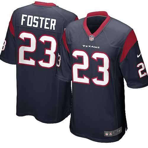 new youth navy blue nike game houston texans 23 arian foster team color nfl jersey
