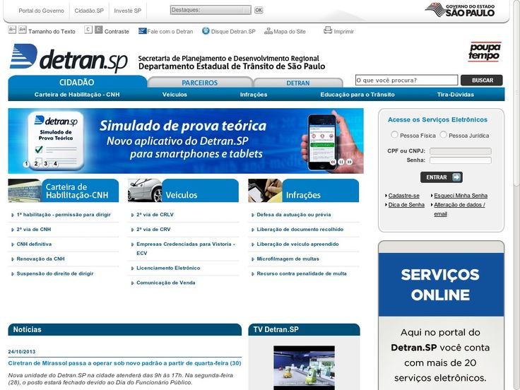 www.detran.sp.gov.br Entrar Agora - Pergunte Tecnologia