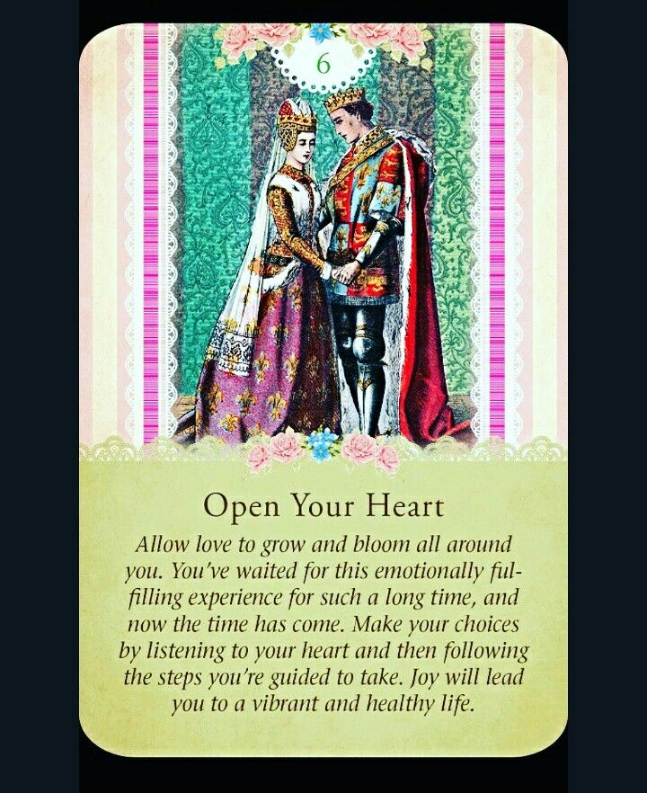 ~Open Your Heart card from Guardian Angel Tarot Cards by Doreen Virtue and Radleigh Valentine~