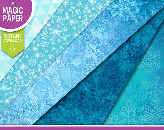 Frozen Backgrounds Digital Papers  Clipart by MagicPaperShop
