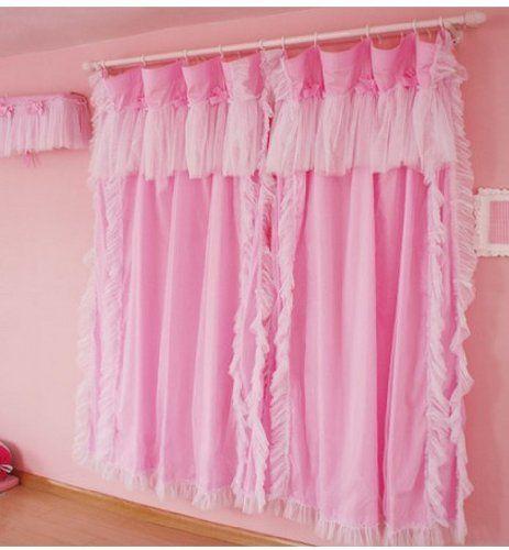 Diaidi Princess Living Room Curtains, Romantic Ruffle Pink Window Curtains, Wedding Decoration, Children Girls Bedroom Curtains, Beautiful Curtains Valances for Home Decor,3 Pcs DIAIDI http://www.amazon.com/dp/B00DVH5MMU/ref=cm_sw_r_pi_dp_etZWvb013Y9Q0