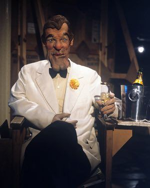 The classic Roger Moore puppet from the satirical 1980s tv show Spitting Image