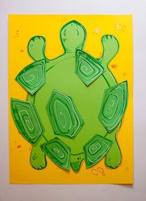 Pikczer For Ticzer turttle puzzle, żółw układanka