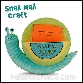 Snail Mail Paper Plate Snail Craft and Learning Activity -- use for storing info about the animal