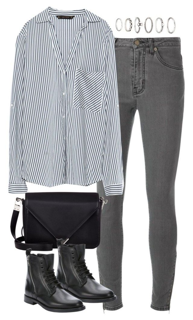 """""""Untitled #4737"""" by eleanorsclosettt ❤ liked on Polyvore featuring Yves Saint Laurent, Zara, Alexander Wang, Forever 21, women's clothing, women, female, woman, misses and juniors"""