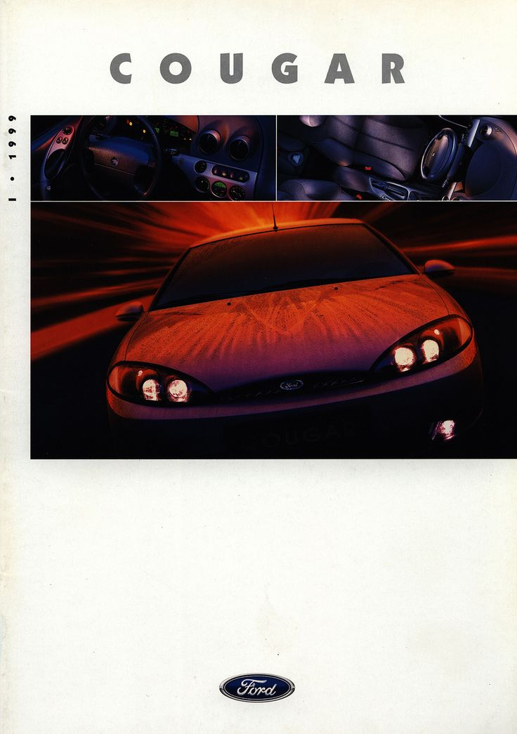 https://flic.kr/p/FY11uW | Ford Cougar; 1999_1 | front cover car brochure by worldtravellib World Travel library