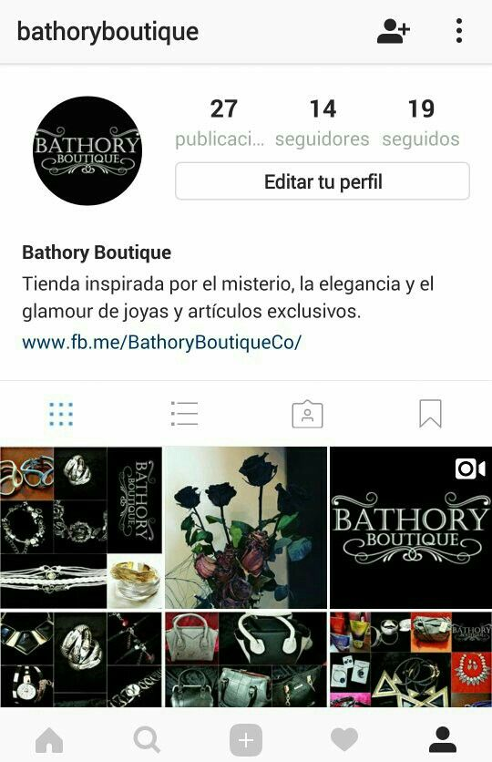 Buenos días, los invitamos a que también nos sigan en #Instagram !!! @BathoryBoutique #BathoryBoutique