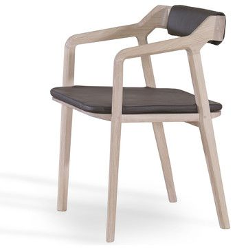 WEWOOD Kundera Dining Chair – Leather Padded Seat and Back sold by Furnie