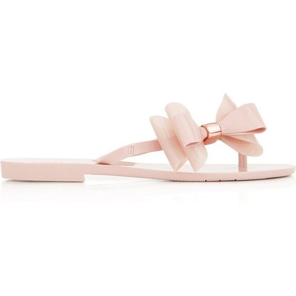 Melissa Harmonic Cute Flip Flops ($90) ❤ liked on Polyvore featuring shoes, sandals, flip flops, pale pink, pale pink sandals, pale pink shoes, slip on sandals, pull on shoes and melissa footwear