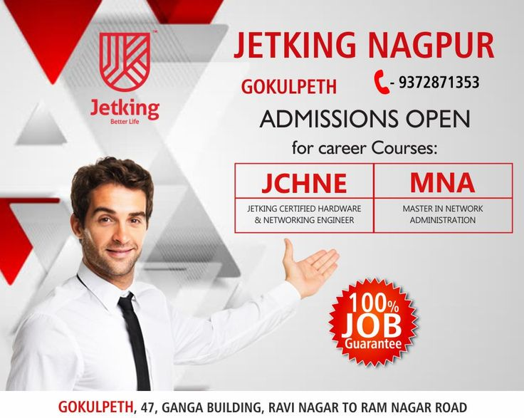 Jetking flagship course for undergraduates #JCHNE+ Cloud- Duration: 12 months. #MNA+ Cloud - Duration: 5.5 months After successful completion of this course students can make a career as an hardware and networking administrator. Reach to #JETKINGNAGPUR Gokulpeth for further enquiry call on 9372871353
