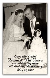 Anniversary Photo Magnets Use As A Save The Date Favor Or Thank You