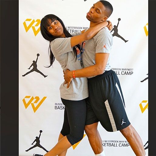"""""""If Russell and I went to prom together,  I imagine it'd look something like this,"""" said Nina. The Westbrooks - Meet the Westbrooks: 18 Reasons Russell Westbrook and His Wife are The Cutest"""